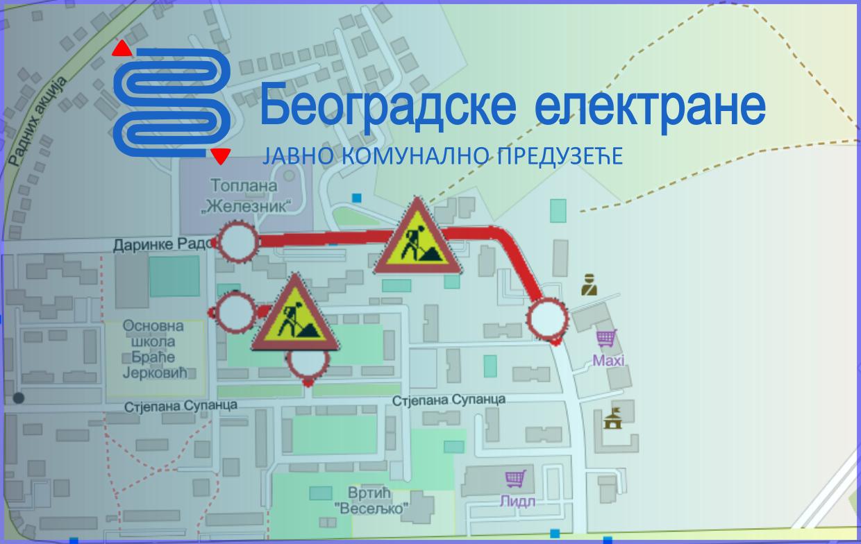 Затворене за саобраћај улице 8. марта и Даринке Радовић