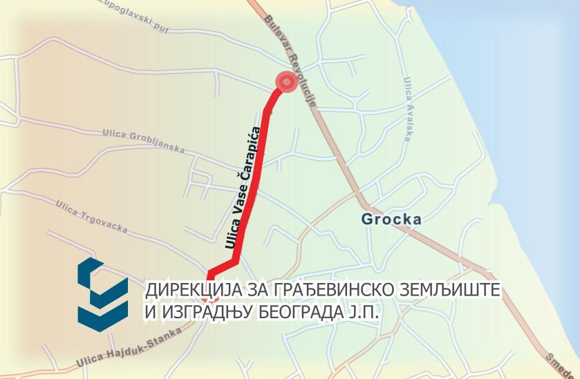 Затворена за саобраћај улица Васе Чарапића у Гроцкој
