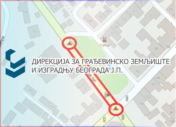 Затворене за саобраћај улица Бежанијска и Сенски трг