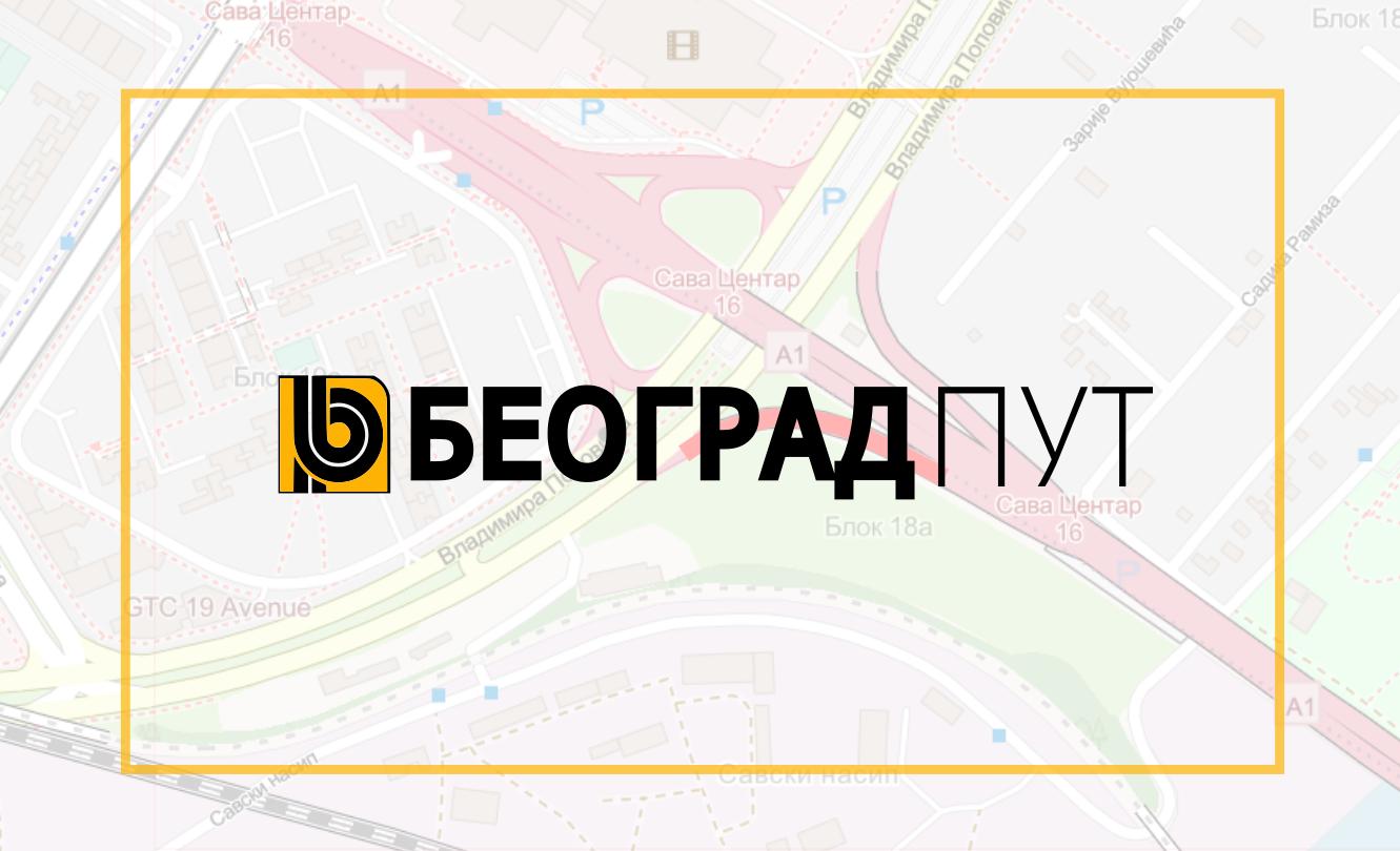 Затворена за саобраћај изливна рампа из Владимира Поповића на Газелу