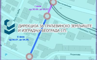 Затворена за саобраћај Миросављева улица