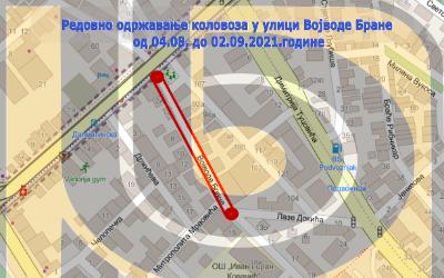 Затворена за саобраћај улица Војводе Бране