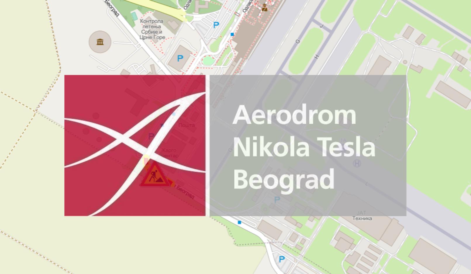 """Радови под саобраћајем у зони аеродрома """"Никола Тесла"""""""