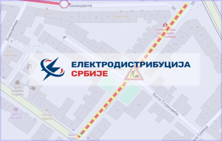 Радови под саобраћајем у Палмотићевој, Косте Стојановића и Хиландарској улици