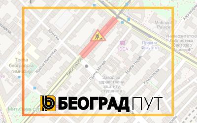 Радови под саобраћајем у Београдској улици